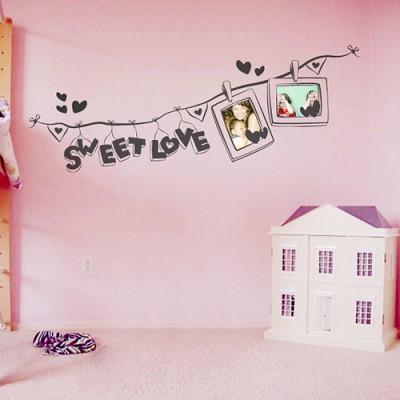 빠띠라인 디자인 스티커 a121_SWEET LOVE 포토플래그