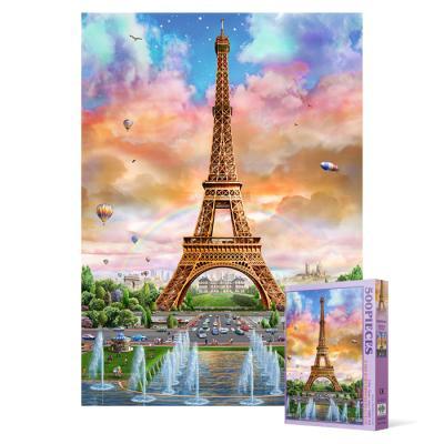 500피스 직소퍼즐 - 에펠탑 무지개 축제