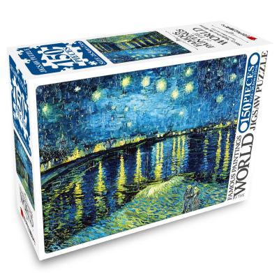 명화 직소퍼즐 150pcs 별이 흐르는 하늘의 론강