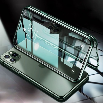 갤럭시노트10 플러스/노트9/강화유리 자석투명 풀커버