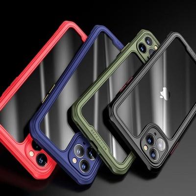 아이폰11 PRO MAX 컬러 사각 에어백 범퍼 투명 케이스