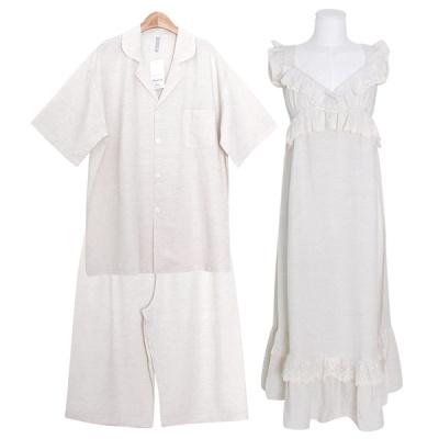 [쿠비카]심플 베이직 린넨혼방 원피스 커플잠옷 WM355
