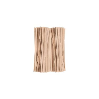 DF 크라프트빵끈(15cm 약1000개) 종이빵끈 무지빵끈