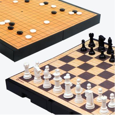 [명인바둑] 중형 자석 바둑+체스(양면) M-250