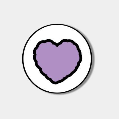 [스마트톡] lavender heart fluffy