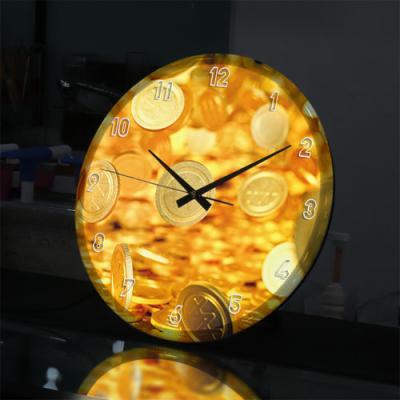 nf724-LED시계액자35R_시간은돈이다