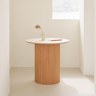 오브제 호마이카 원형 테이블 원목 식탁 2size