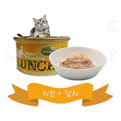 고양이 캔사료 캔간식 80g 치킨 참치 비타민E 오메가