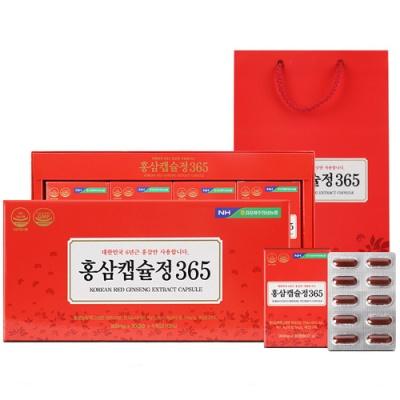 홍삼캡슐정 365 (90mgx30캡슐)x4개입