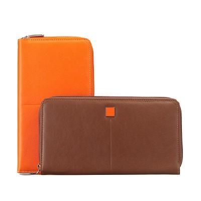 [천연가죽] 여행용 장지갑 지퍼형 콤비 2 Color