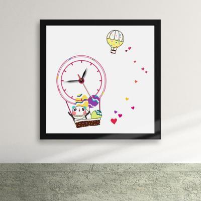 iz203-팬더씨의꿈은비행액자벽시계_디자인액자시계