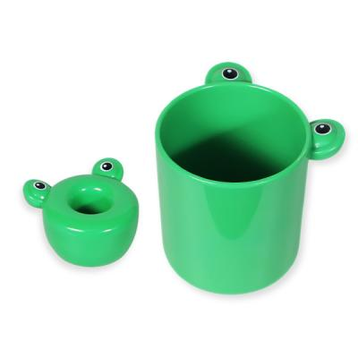 욕실 인테리어 개구리 칫솔꽂이 스탠드 양치컵 세트