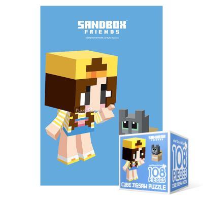 108피스 직소퍼즐 - 마인크래프트 잠뜰과고양이(미니)