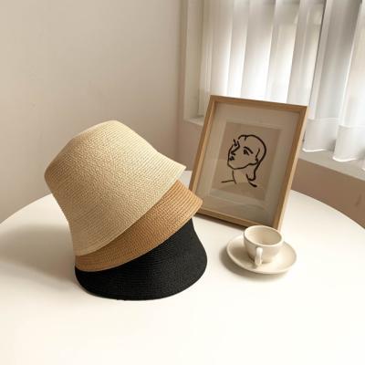 라탄 밀짚 벙거지 모자 3color