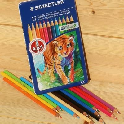 12색 색연필..스테들러 145 Metal tin AM12