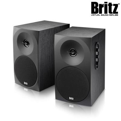 브리츠 2채널 북쉘프 스피커 BZ-B70 (우든 MDF / 사운드 컨트롤패널 / 20W 고출력)