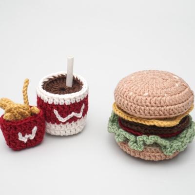 햄버거 세트 소꿉놀이 장난감 - 코바늘 뜨개질 키트