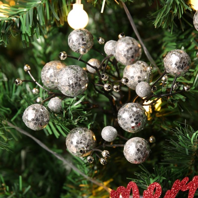 트리장식 포인꽃 열매 (실버)