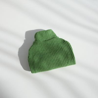 강아지옷 겨울니트 파인 니트 하이넥 스웨터(연두)