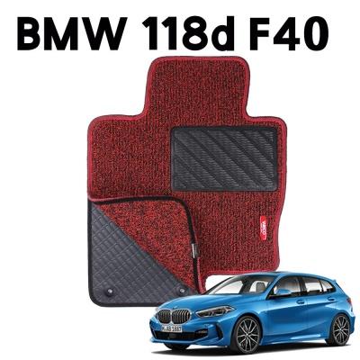 BMW 118d F40 이중 코일 차량용 차 발 깔판 매트 Red