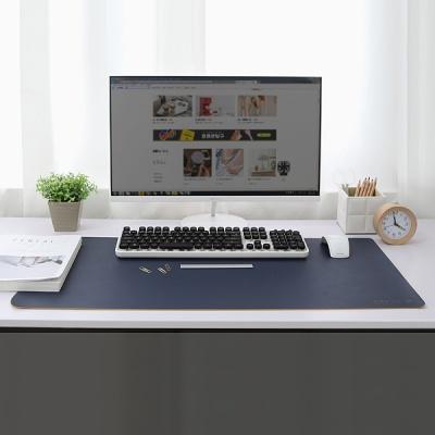 사무실 듀얼컬러 양면 가죽 와이드 데스크매트(80cm)