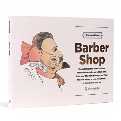 100년 전 특허 도면 드로잉 북, BARBER SHOP