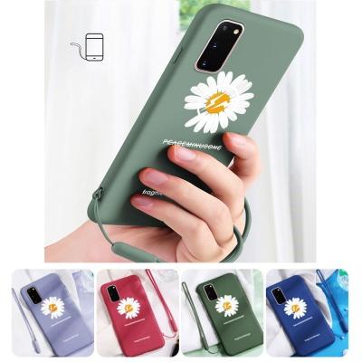 아이폰se2 xr xsmax 8 + 국화꽃 젤리 핸드폰줄 케이스