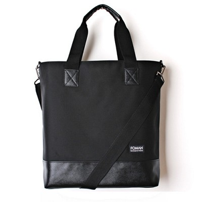 LEATHER TOTE BAG - ALL BLACK-
