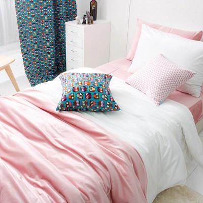 극세사 핑크화이트 침구세트