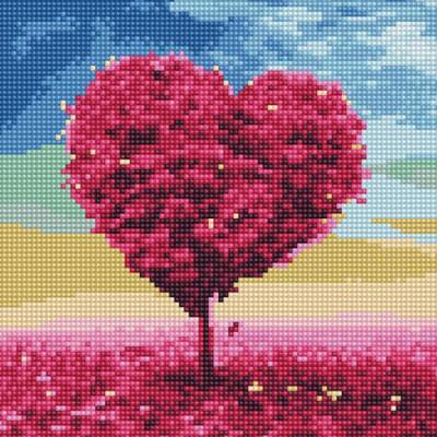 사랑나무 1 (캔버스형) 보석십자수 25x25