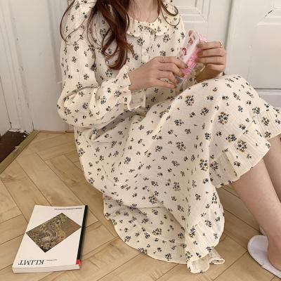 여성 홈웨어 잠옷 세트 파자마 메이비 잔패턴 원피스