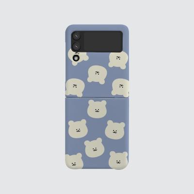 168cm(무광-Z플립3) 곰찌 패턴 블루
