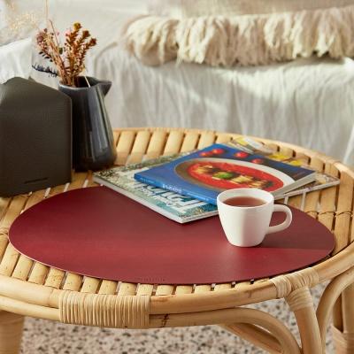 청정일기 조약돌 방수 가죽 테이블매트 식탁매트