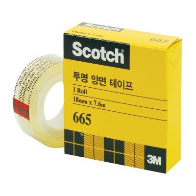 3M 스카치 투명 양면 리필 #665 (18mmx7.6m)