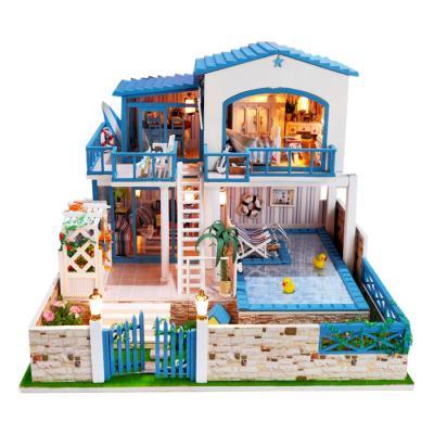 [adico]DIY미니어처 풀하우스 - 풀장이 있는 2층집