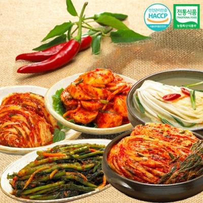 포기김치+나박물김치+석박지김치+갓김치+맛김치x각1kg