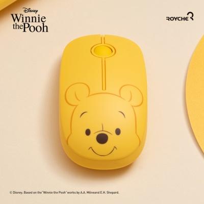 디즈니 곰돌이 푸 피글렛 무소음 무선 마우스