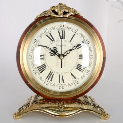 크라운 골드 앤틱 탁상시계 탁상 시계 디자인 추카
