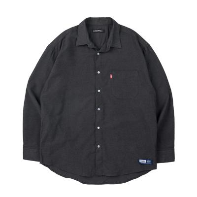157 솔리드 셔츠 (챠콜)