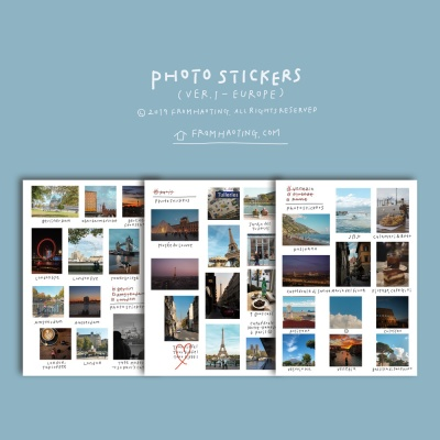 Photo Stickers - ver1. EUROPE