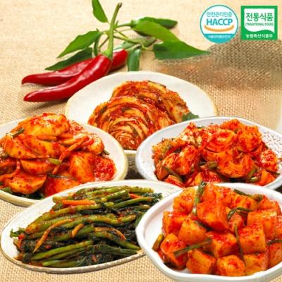 깍두기+석박지+갓김치+양파김치+맛김치x각1kg