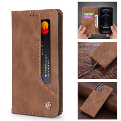 아이폰SE2 8 7PLUS/심플 가죽 카드 지갑 플립 케이스