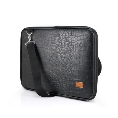 노트북가방 13.3인치 악어가죽 블랙 심플형