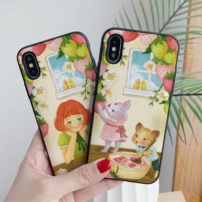 아이폰7플러스 딩그레이 딸기우유 카드케이스