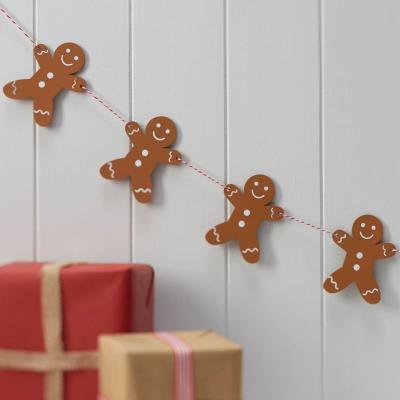 [빛나파티]진저브레드맨 우드 가랜드 Gingerbread Man