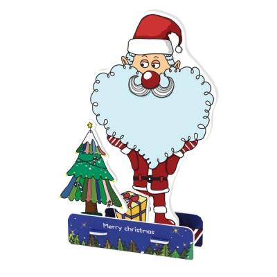 크리스마스 카드-하트 수염 산타할아버지