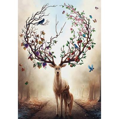 1000조각 목재 직소퍼즐▶ 계절의 변화 사슴 [WPK1000-03]