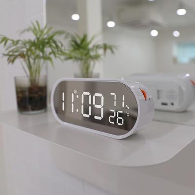 [무아스] 롤링팝 미러클락 LED탁상시계 온도 습도