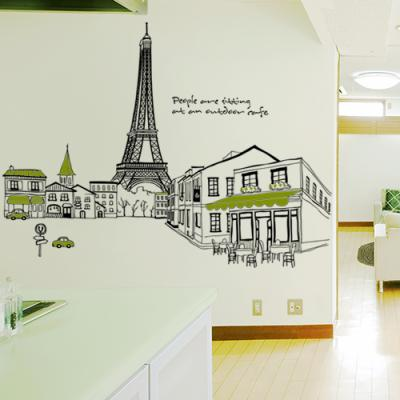 ch187-에펠탑이보이는파리의카페거리_그래픽스티커