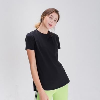 스플래쉬 사이드 슬릿 티셔츠 DFW5024 블랙